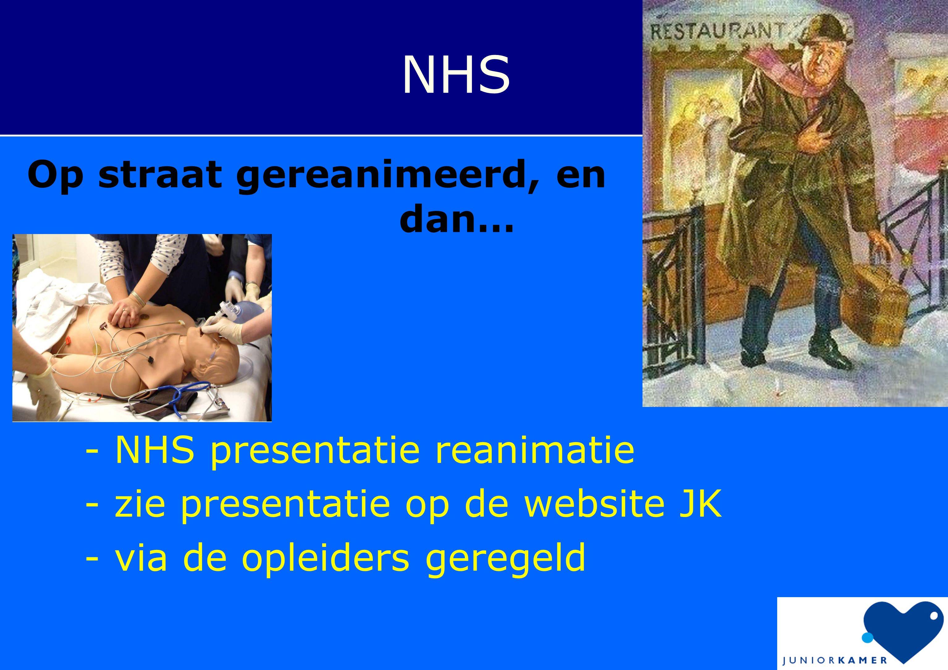 NHS Op straat gereanimeerd, en dan… - NHS presentatie reanimatie