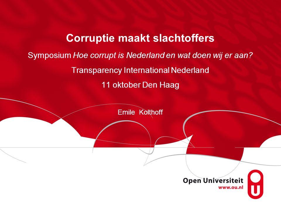 Corruptie maakt slachtoffers