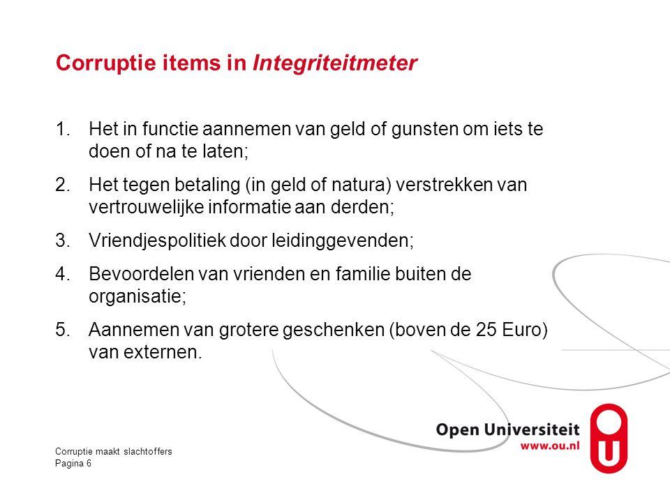 Corruptie items in Integriteitmeter