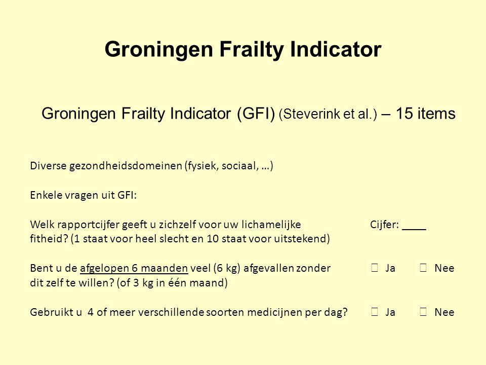 Groningen Frailty Indicator