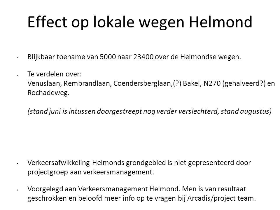 Effect op lokale wegen Helmond