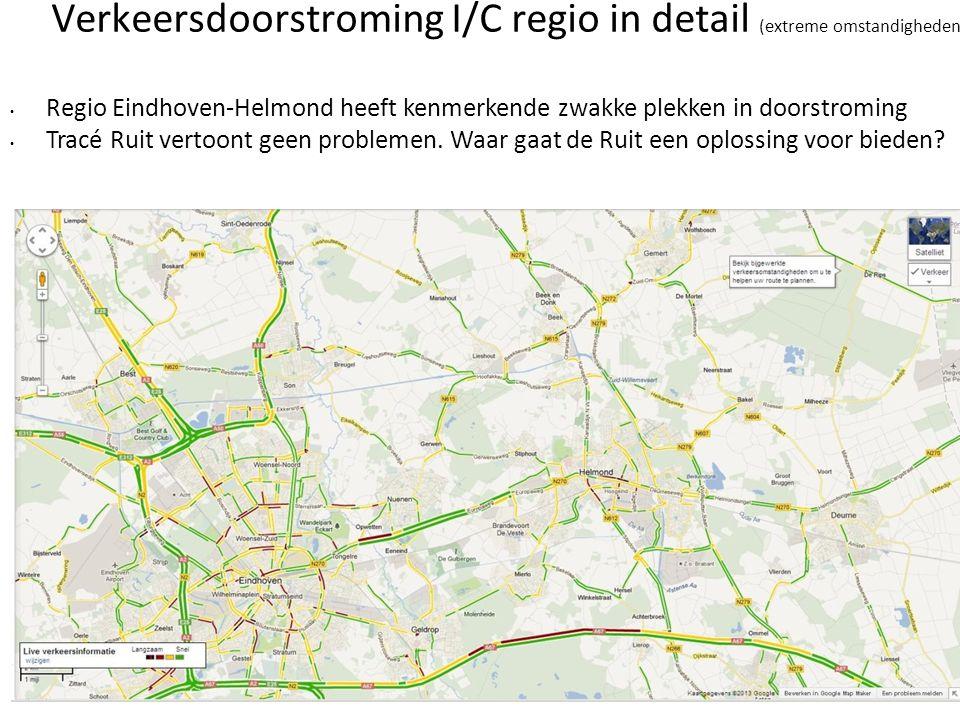 Verkeersdoorstroming I/C regio in detail (extreme omstandigheden)