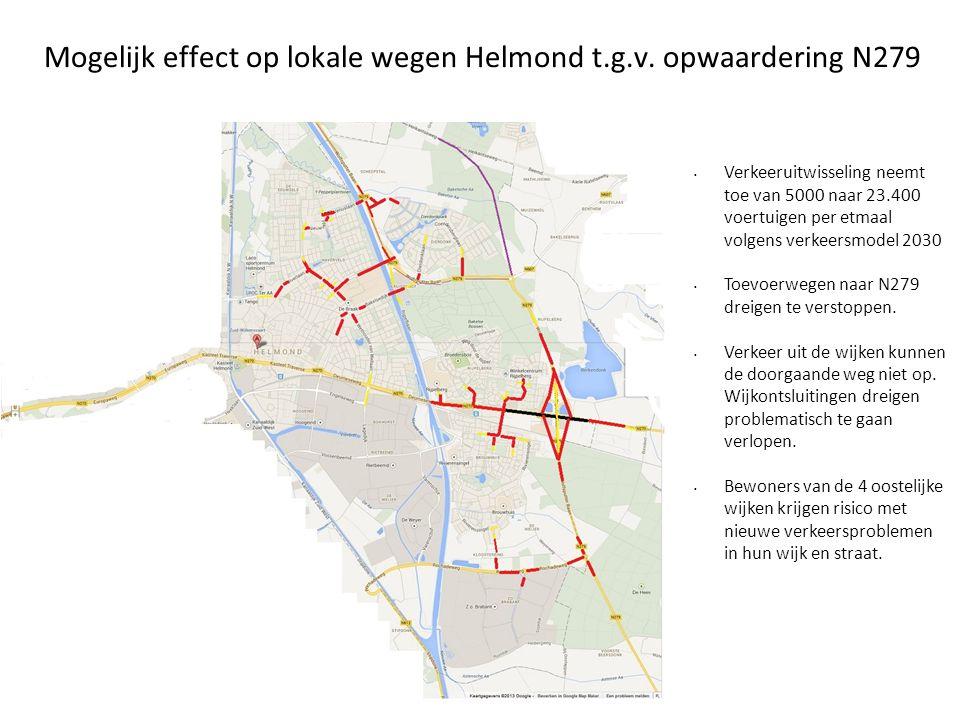 Mogelijk effect op lokale wegen Helmond t.g.v. opwaardering N279