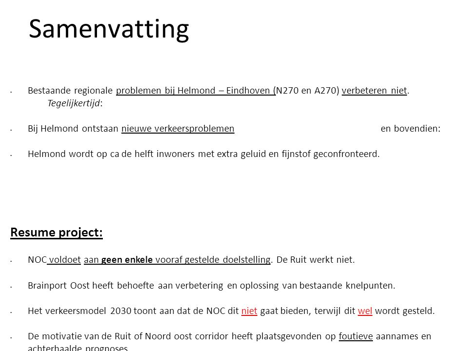 Samenvatting Resume project: 2828