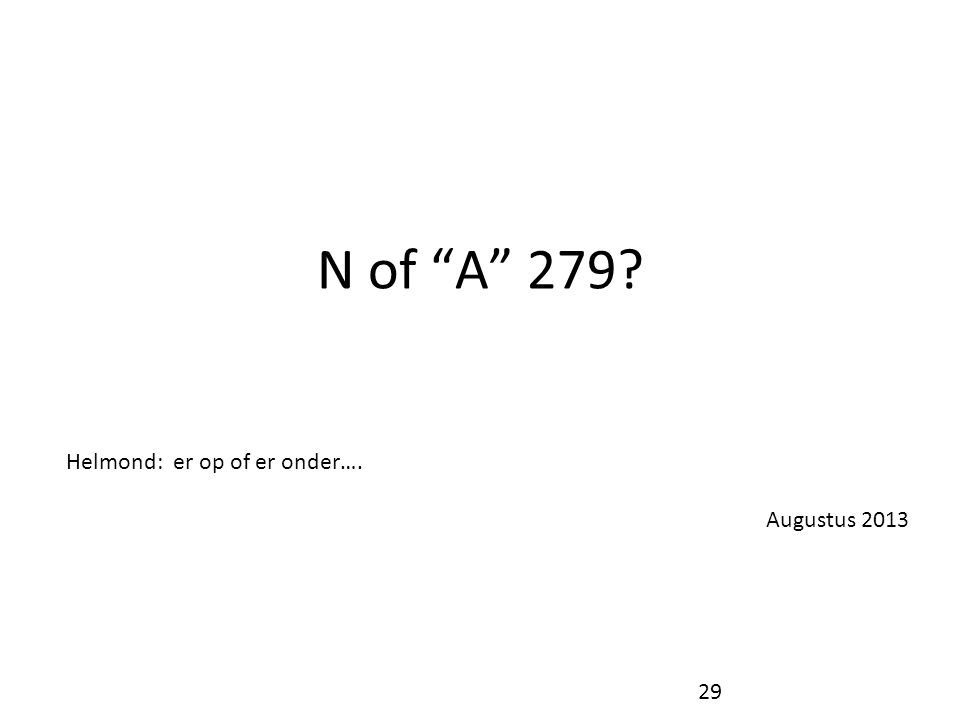 N of A 279 Helmond: er op of er onder…. Augustus 2013 29