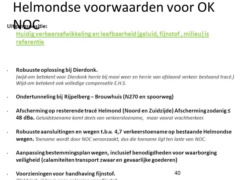 Helmondse voorwaarden voor OK NOC