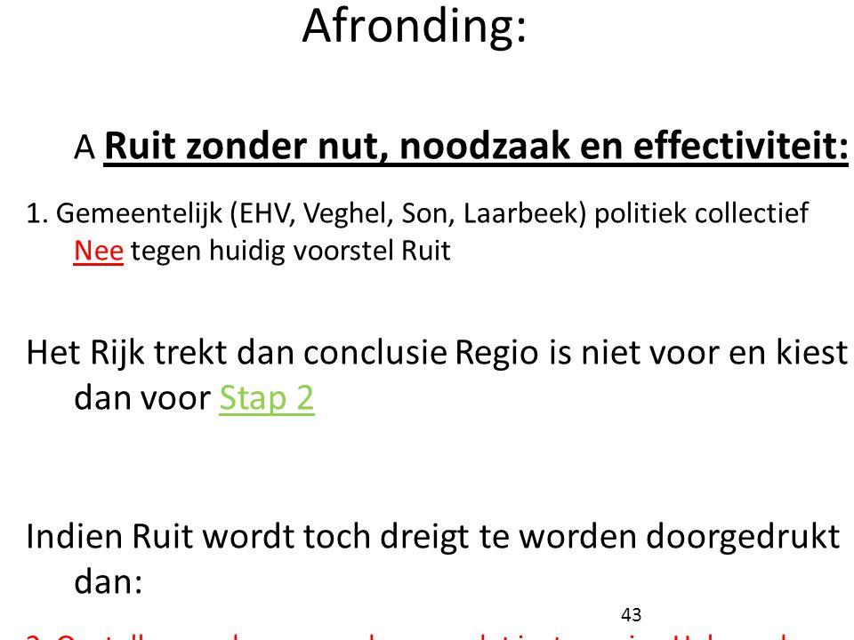 Afronding: Stap 2 (best scenario):
