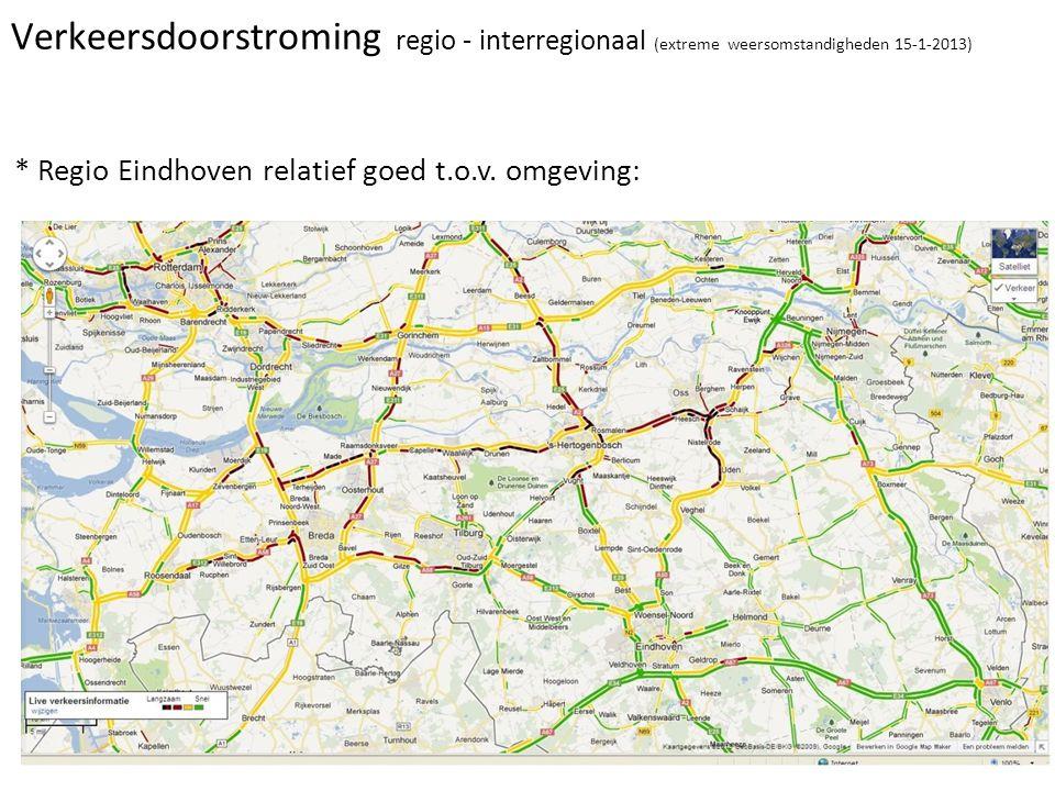 Verkeersdoorstroming regio - interregionaal (extreme weersomstandigheden 15-1-2013)