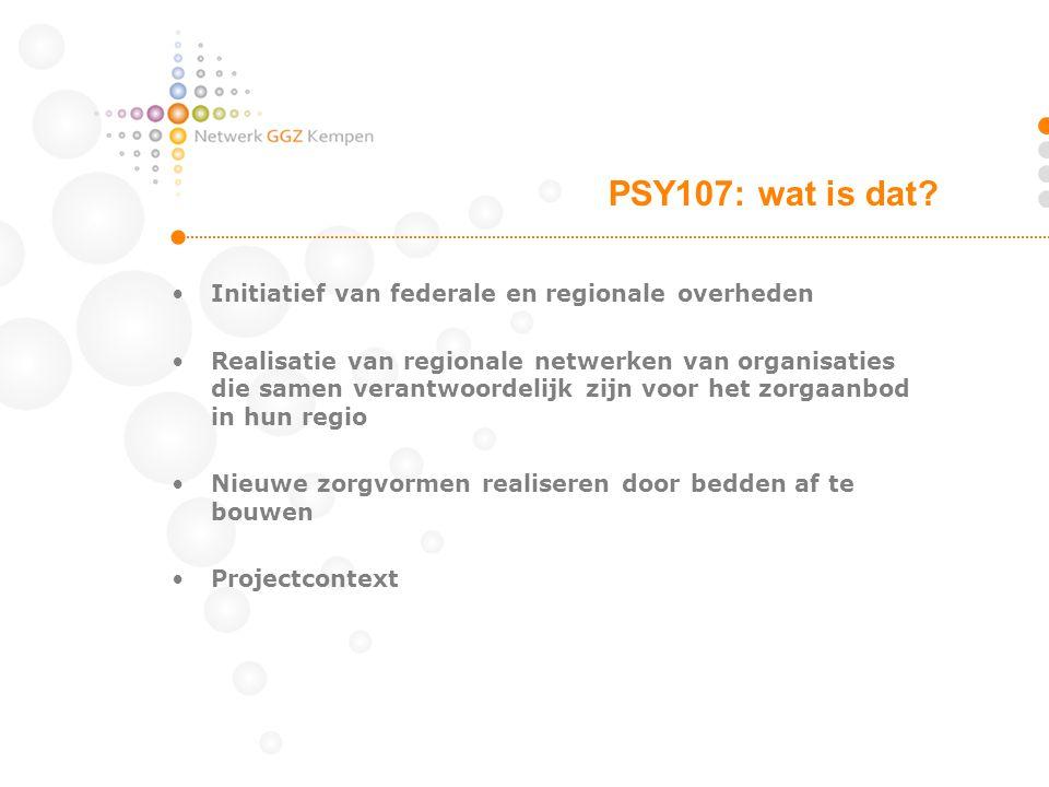 PSY107: wat is dat Initiatief van federale en regionale overheden