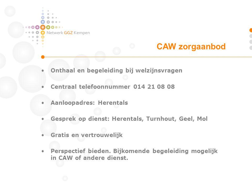 CAW zorgaanbod Onthaal en begeleiding bij welzijnsvragen