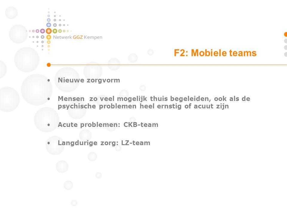 F2: Mobiele teams Nieuwe zorgvorm