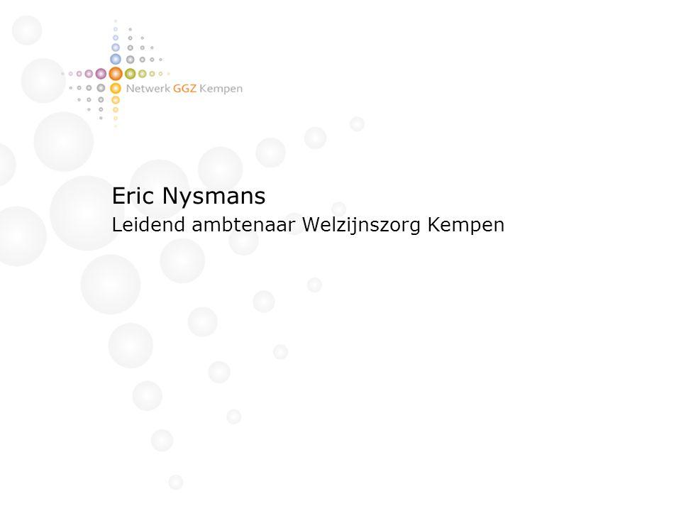 Eric Nysmans Leidend ambtenaar Welzijnszorg Kempen