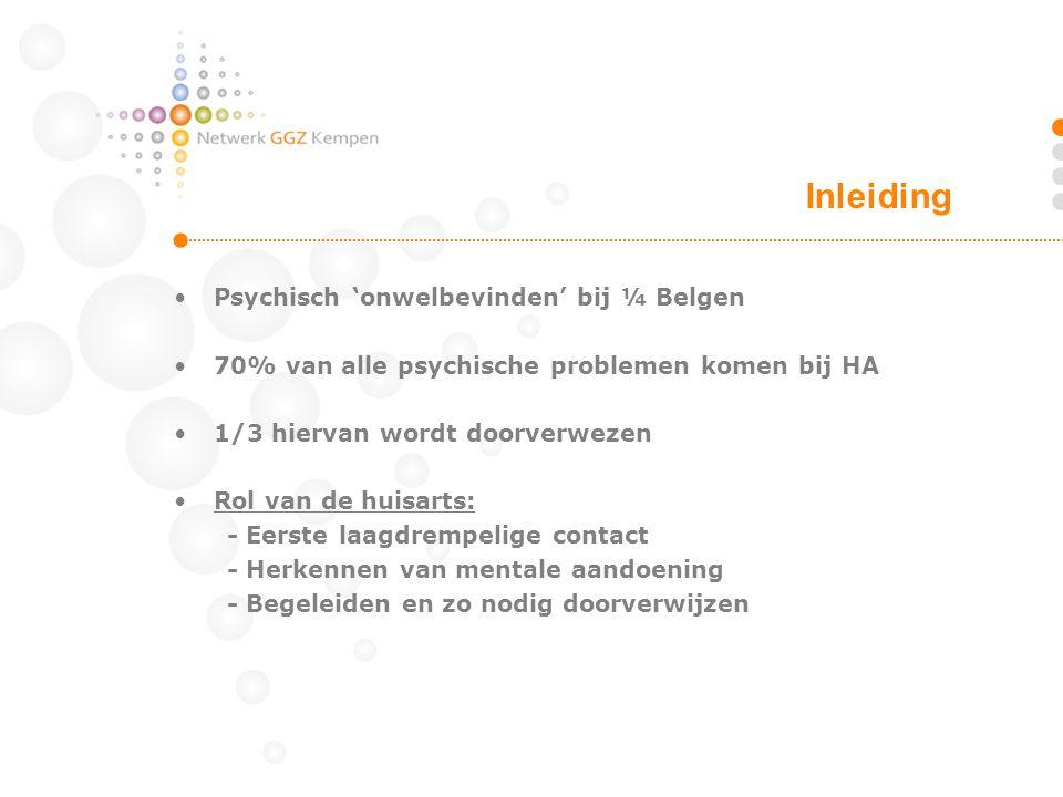 Inleiding Psychisch 'onwelbevinden' bij ¼ Belgen