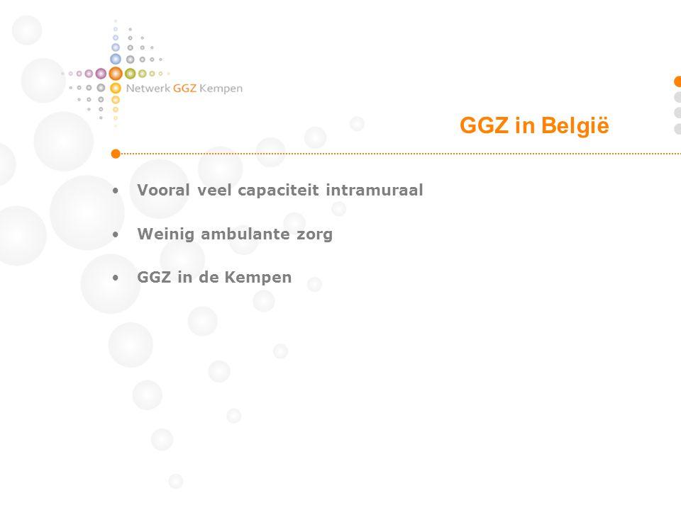 GGZ in België Vooral veel capaciteit intramuraal Weinig ambulante zorg