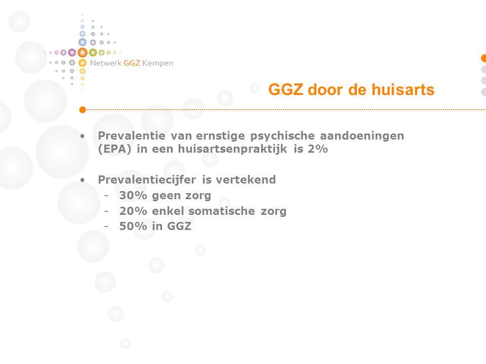 GGZ door de huisarts Prevalentie van ernstige psychische aandoeningen (EPA) in een huisartsenpraktijk is 2%