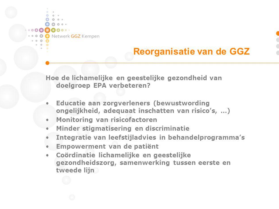 Reorganisatie van de GGZ