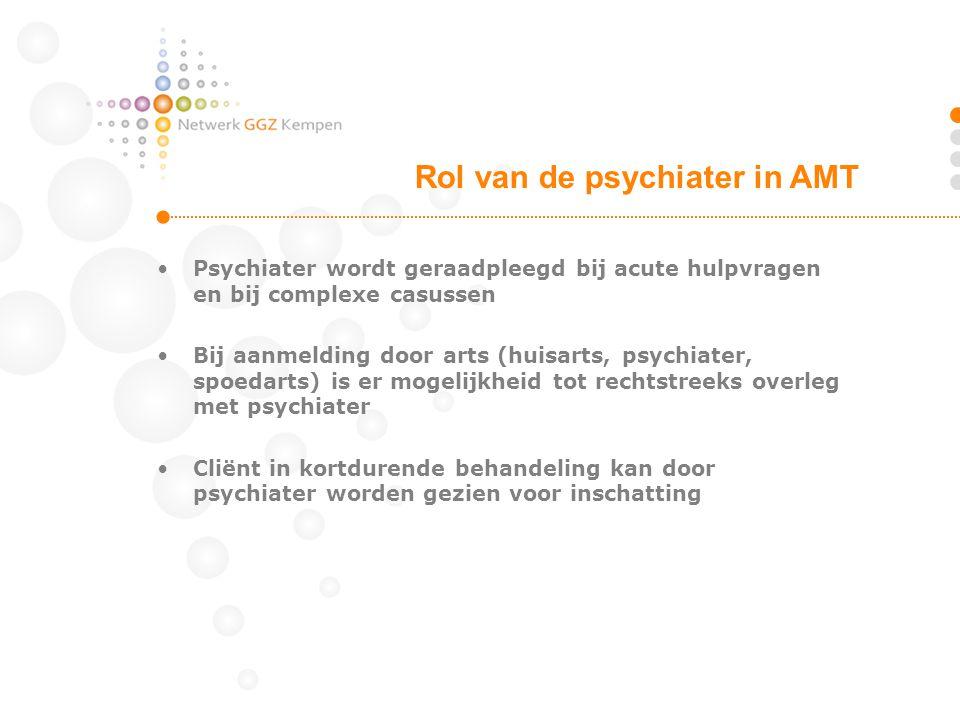 Rol van de psychiater in AMT