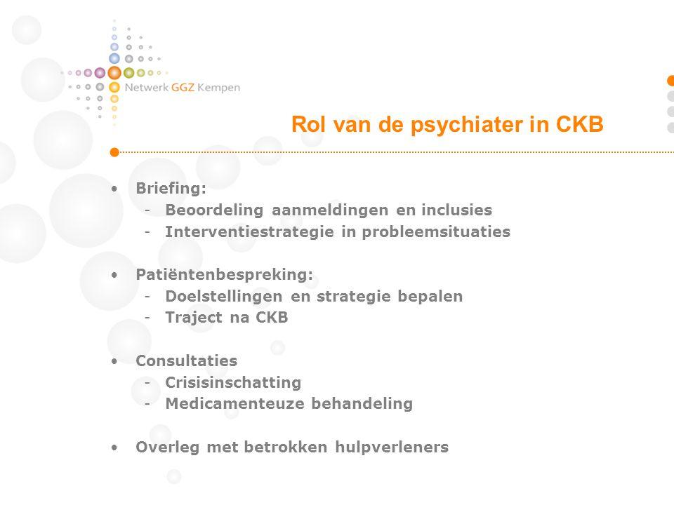 Rol van de psychiater in CKB