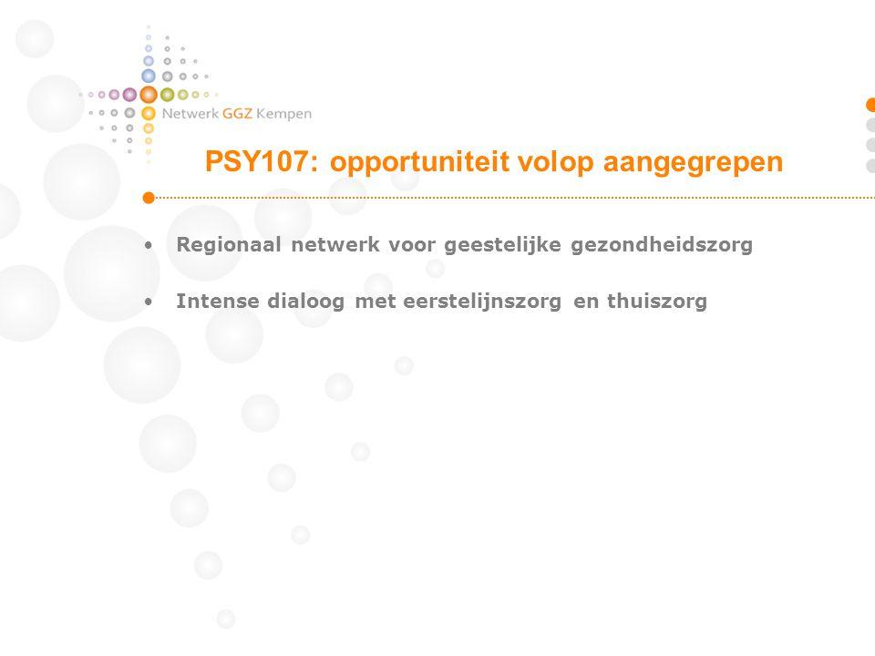 PSY107: opportuniteit volop aangegrepen