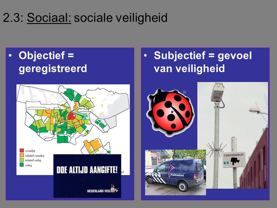 2.3: Sociaal: sociale veiligheid