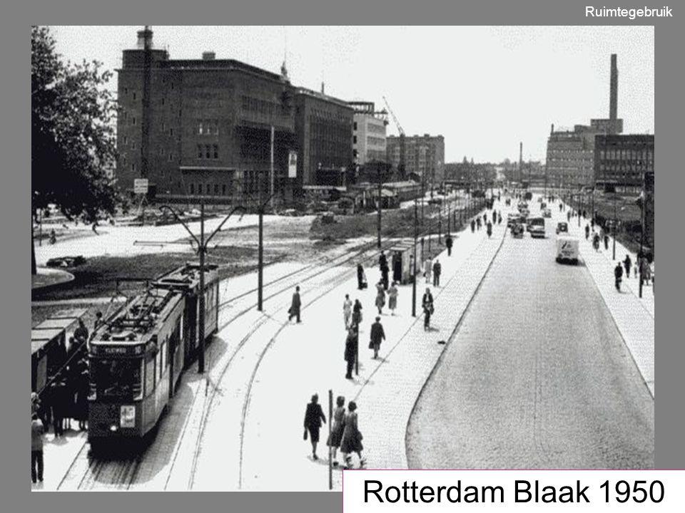 Ruimtegebruik Rotterdam Blaak 1950