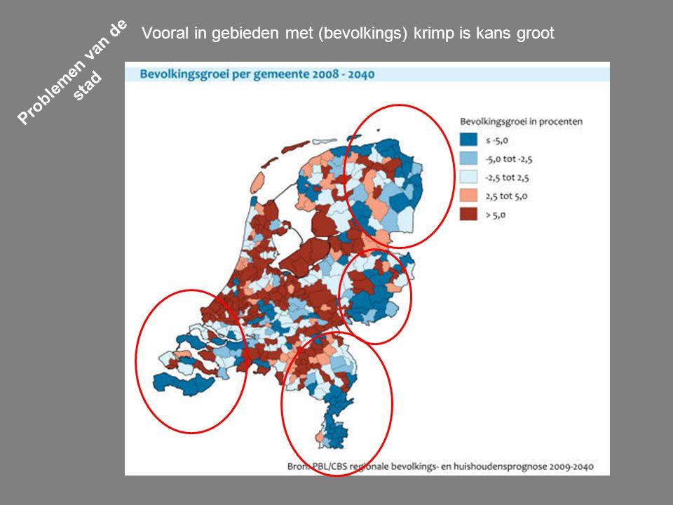Vooral in gebieden met (bevolkings) krimp is kans groot