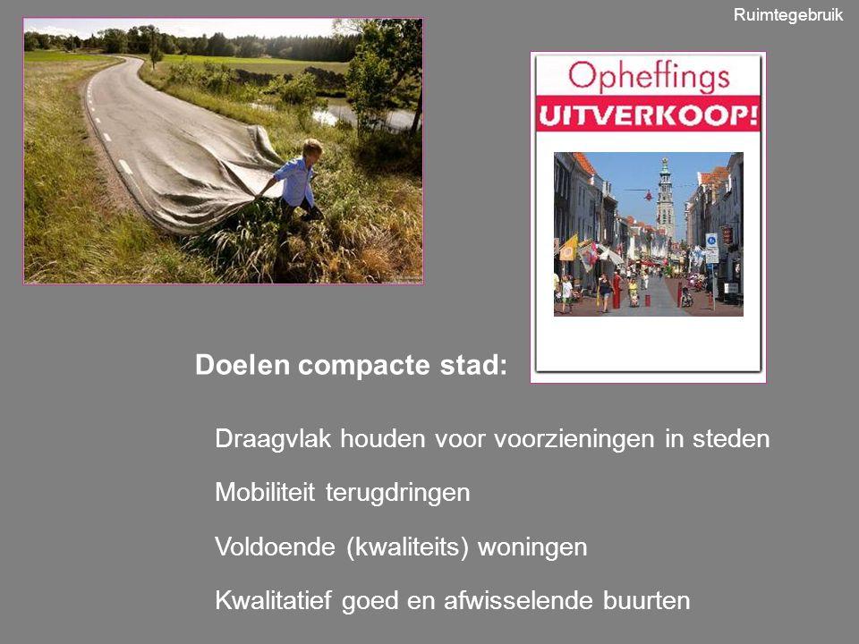 Doelen compacte stad: Draagvlak houden voor voorzieningen in steden