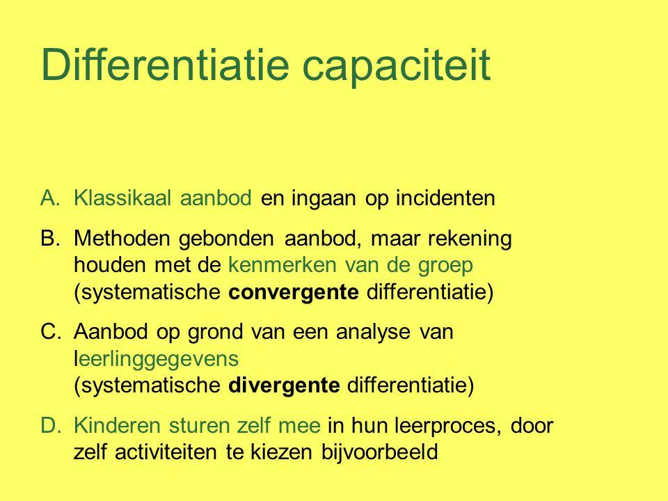 Differentiatie capaciteit