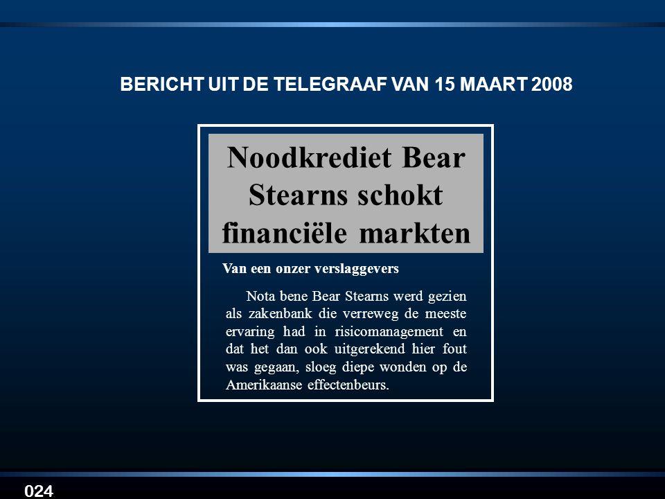 BERICHT UIT DE TELEGRAAF VAN 15 MAART 2008