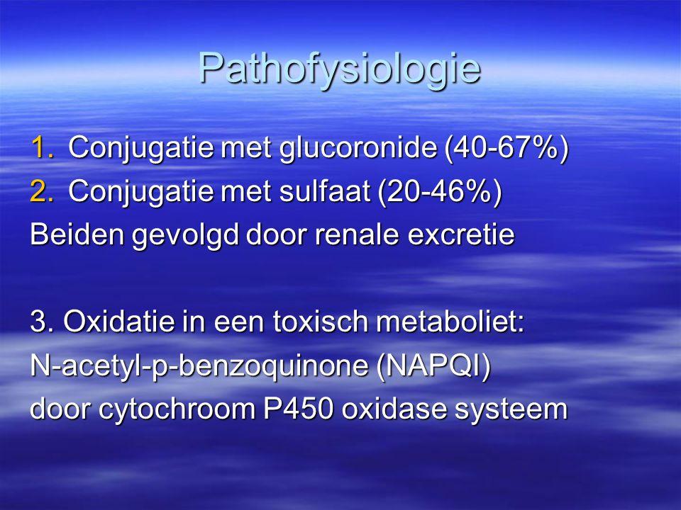 Pathofysiologie Conjugatie met glucoronide (40-67%)