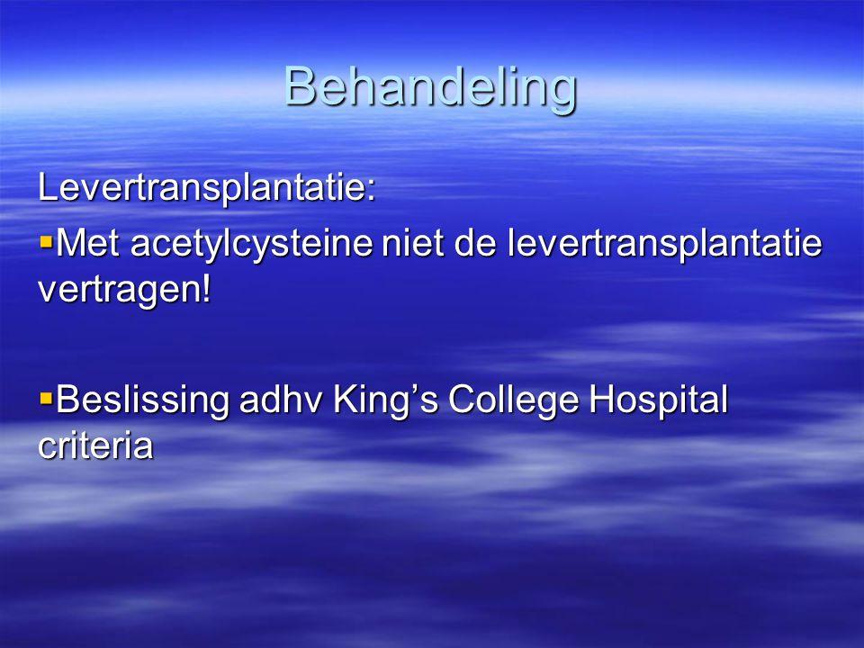 Behandeling Levertransplantatie: