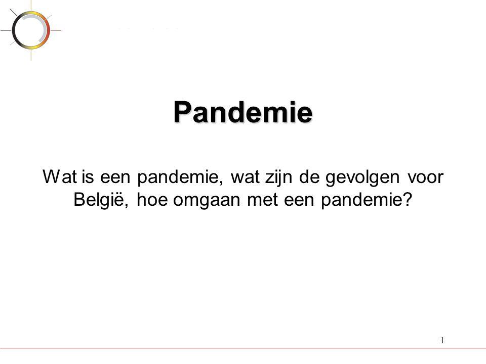 Pandemie Wat is een pandemie, wat zijn de gevolgen voor België, hoe omgaan met een pandemie