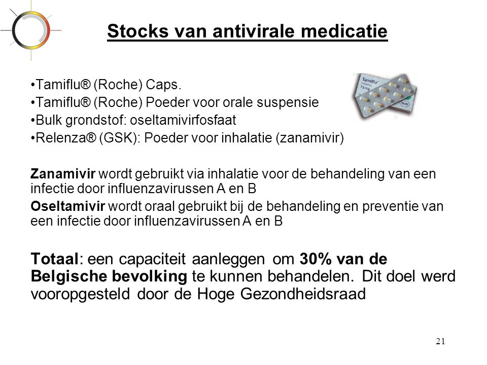 Stocks van antivirale medicatie