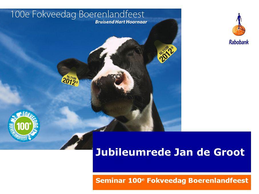 Jubileumrede Jan de Groot