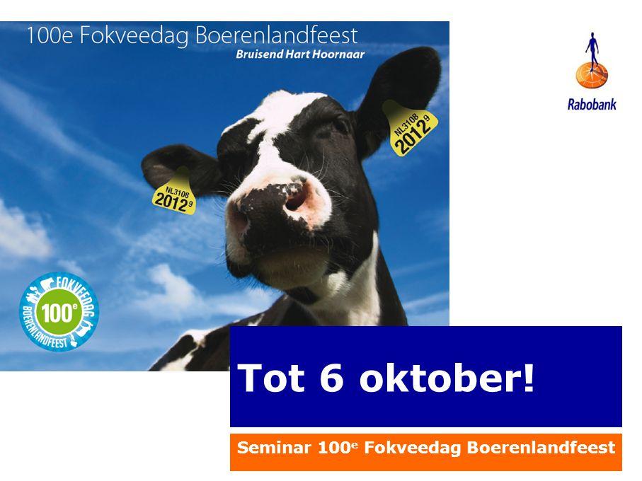 Seminar 100e Fokveedag Boerenlandfeest