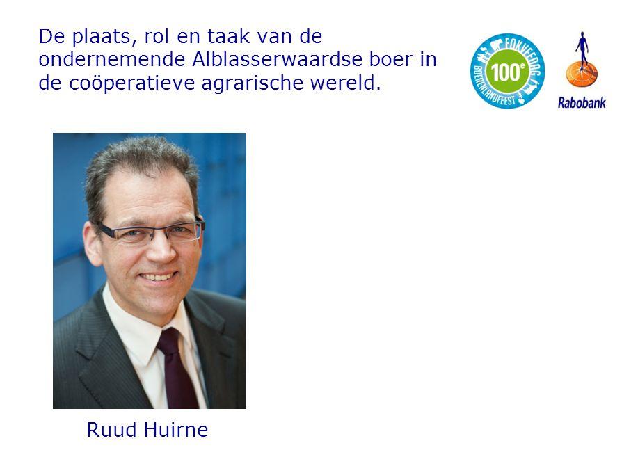De plaats, rol en taak van de ondernemende Alblasserwaardse boer in de coöperatieve agrarische wereld.