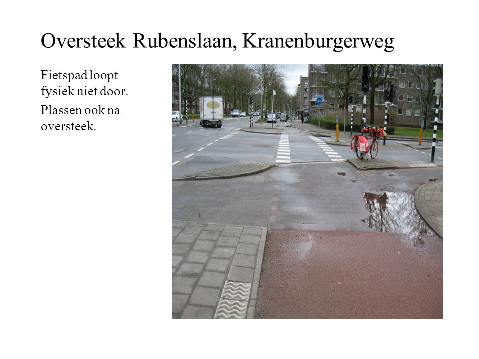 Oversteek Rubenslaan, Kranenburgerweg