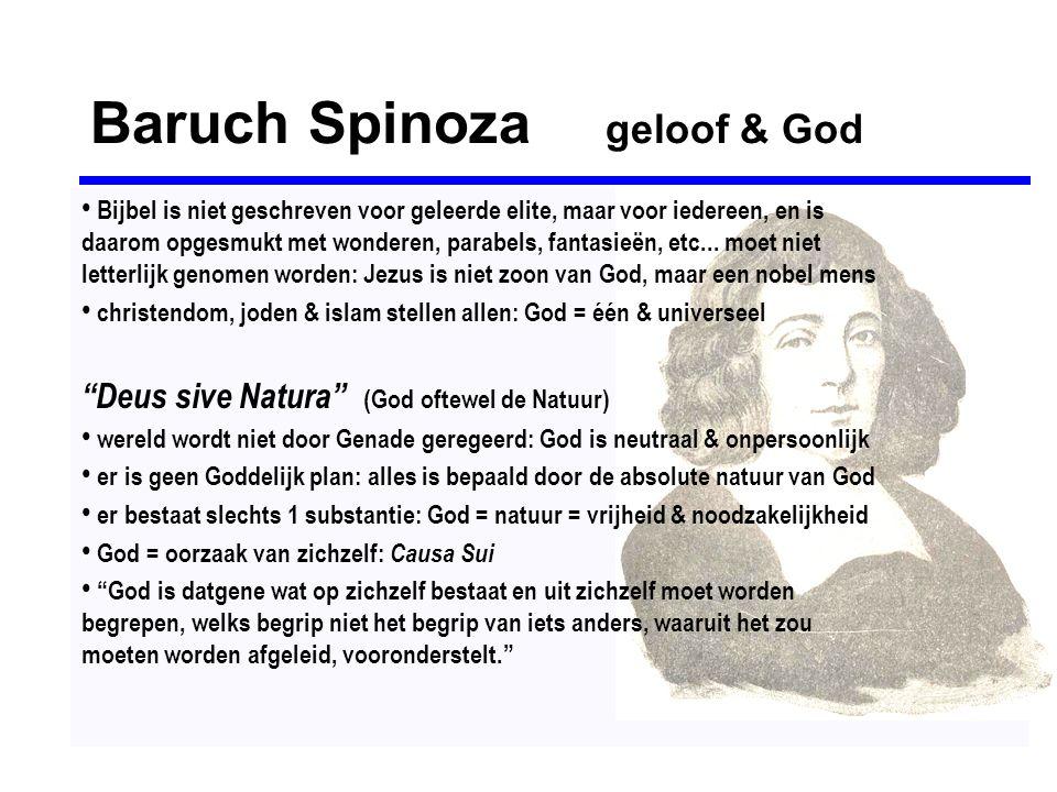 Baruch Spinoza geloof & God