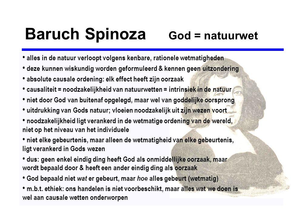 Baruch Spinoza God = natuurwet