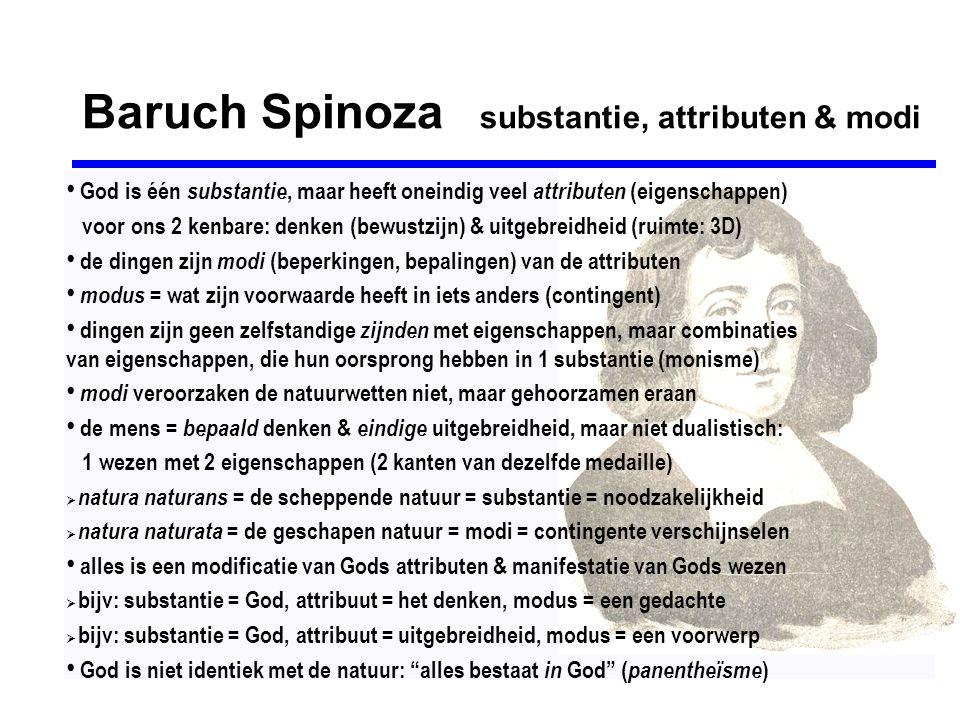 Baruch Spinoza substantie, attributen & modi