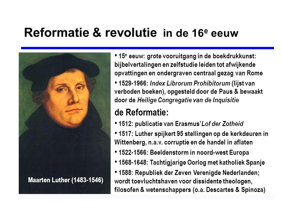 Reformatie & revolutie in de 16e eeuw