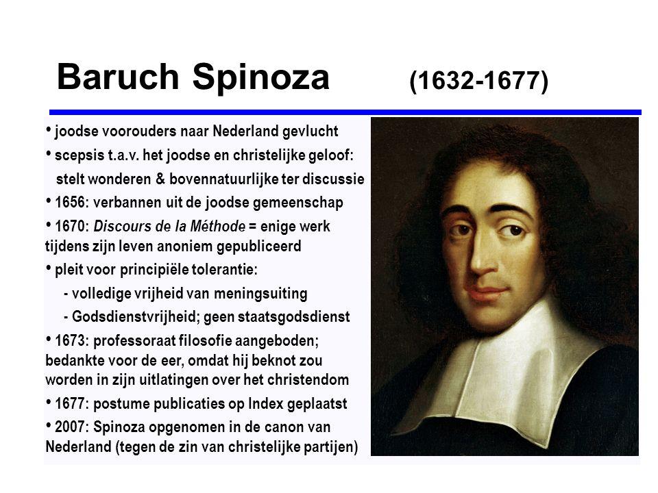 Baruch Spinoza (1632-1677) joodse voorouders naar Nederland gevlucht