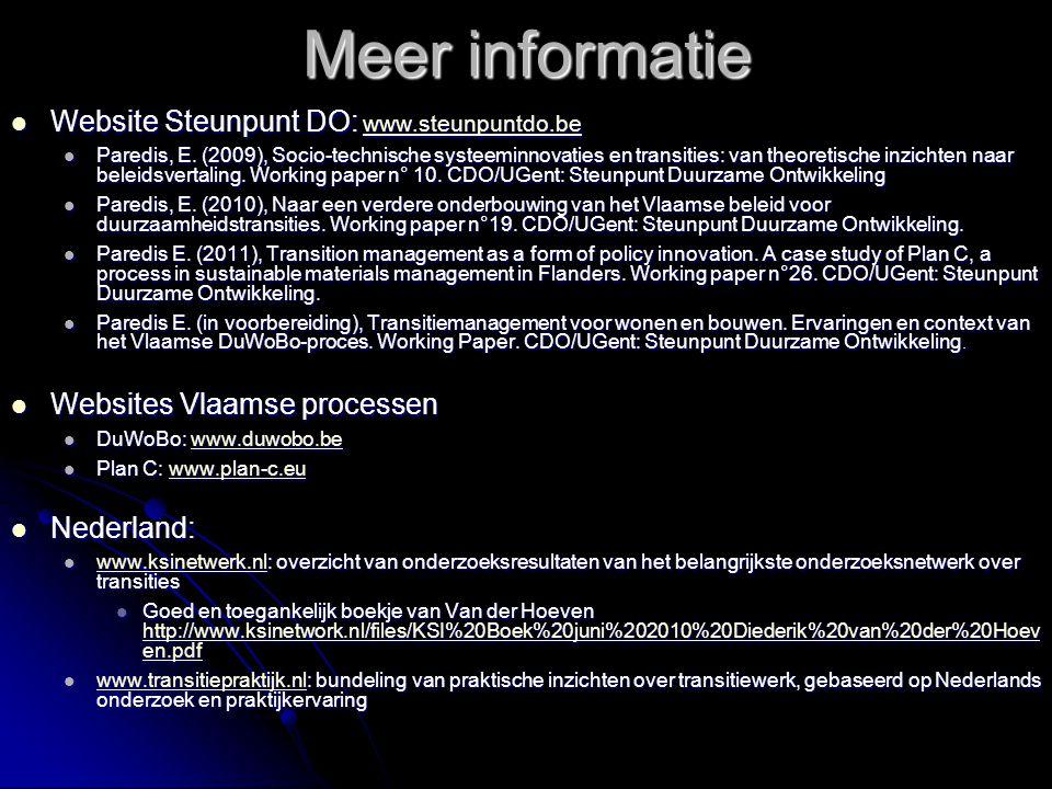 Meer informatie Website Steunpunt DO: www.steunpuntdo.be