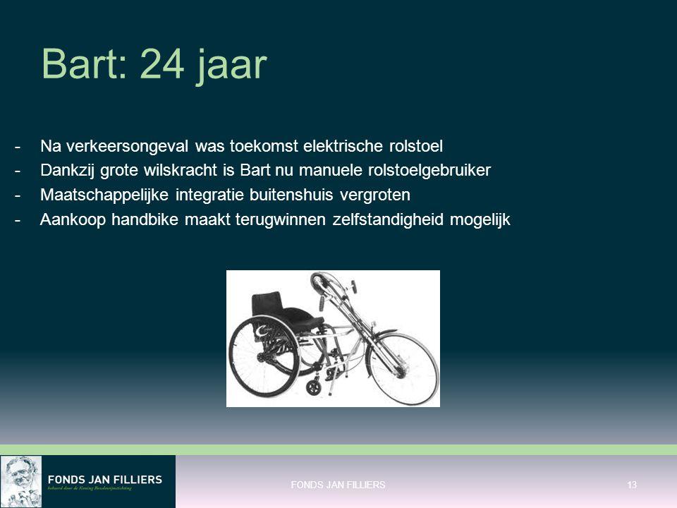 Bart: 24 jaar Na verkeersongeval was toekomst elektrische rolstoel
