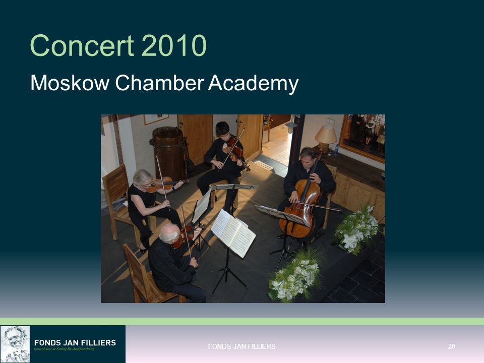 Concert 2010 Moskow Chamber Academy FONDS JAN FILLIERS