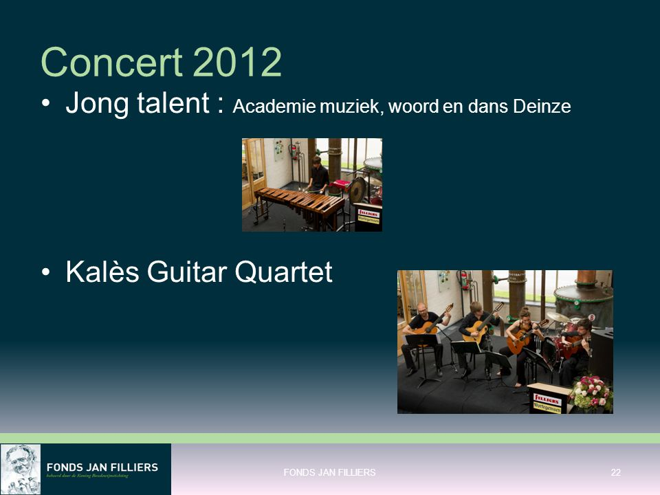 Concert 2012 Jong talent : Academie muziek, woord en dans Deinze