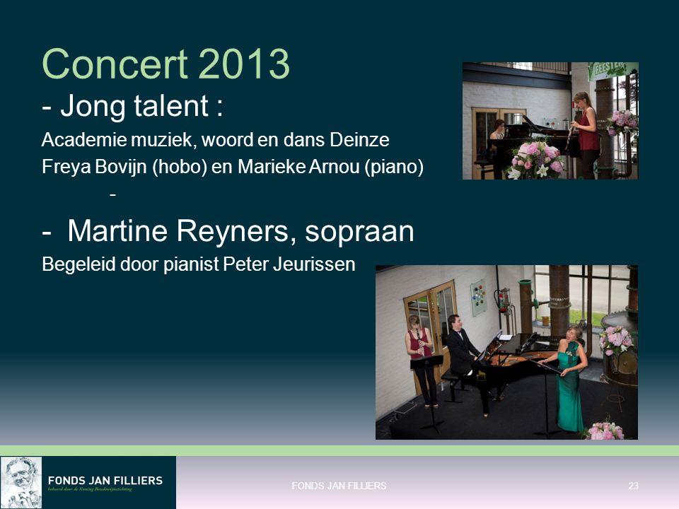 Concert 2013 - Jong talent : Martine Reyners, sopraan
