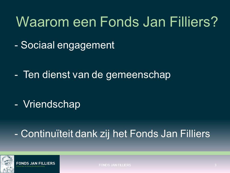 Waarom een Fonds Jan Filliers