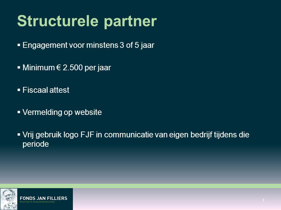 Structurele partner Engagement voor minstens 3 of 5 jaar