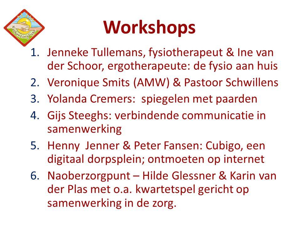 Workshops Jenneke Tullemans, fysiotherapeut & Ine van der Schoor, ergotherapeute: de fysio aan huis.